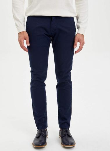 DeFacto Slim Fit Basic Chino Pantolon Lacivert